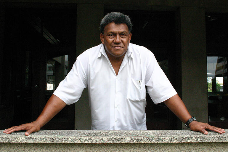 File photo from February 2007: Fereimi Cama, the newly appointed Dean of Holy Trinity Cathedral, Suva.