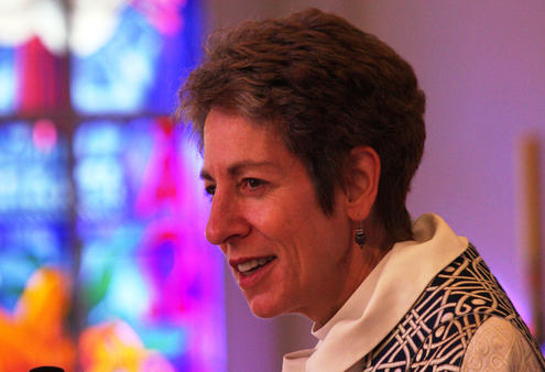 Bishop Katharine preached at Auckland's cathedral in the morning, ...