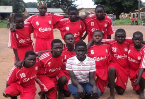 """Live Below the Line"" donations will help these Maridi soccer girls get a better shot at education as well as sport."