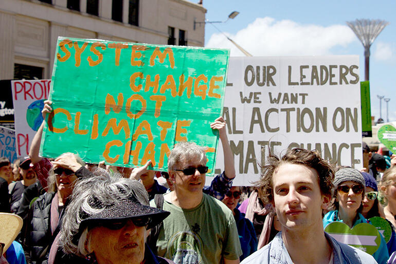 It's the system that needs changing - and not the climate, according to this marcher.