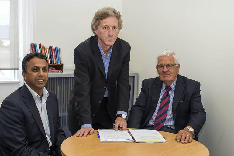 The NZ Anglican Church Pension Board's Investment Management Team L-R: Manher Sukha, Simon Brodie and Garry Gould.