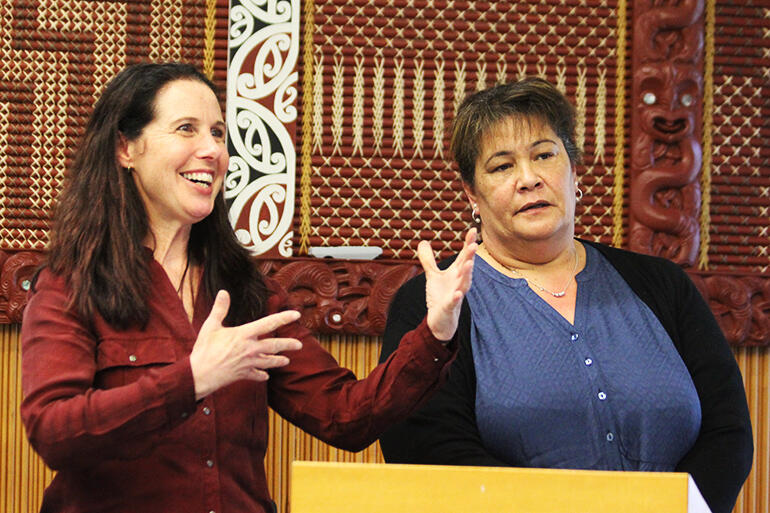 Rev Rochelle Grace and Mira Martin shared the good wishes of Tikanga Maori youth networks.