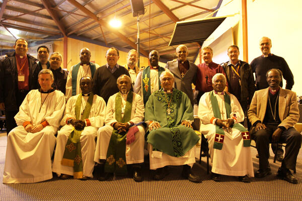 The bishops who came from the four corners of the earth to be at the 2011 Common Life Missions Conference.