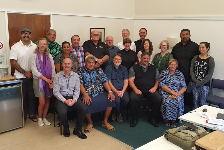 Standing Committee of General Synod Te Hīnota Whānui gather at their meeting in early March 2020 - before the era of social distancing.