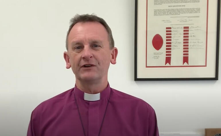 Bishop of Auckland Ross Bay helps his diocese respond to Levels 3 and 2 via a video message.