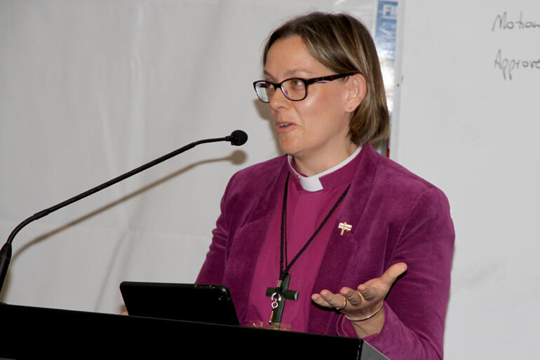 Bishop Helen-Ann Hartley reminds synod that women leaders still need support.