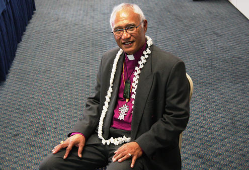 The Rt Rev Dr Winston Halapua, the new diocesan Bishop of Polynesia, and therefore Archbishop of this church.