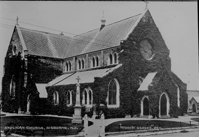 Holy Trinity in the grip of ivy. Photo: Auckland Public Library.
