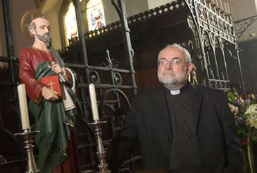 Father Stephen Bould in St Peter's, Folkestone. Photograph: Philip Toscano for the Guardian.