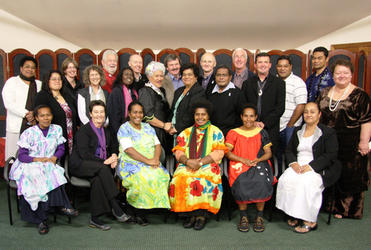 The people who came from across the Pacific and from the UK for the IAFN consultation on violence and the family.