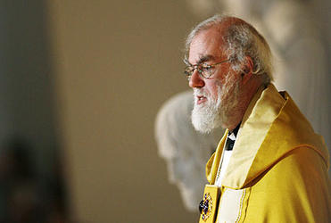 Dr Rowan Williams preaches during an ecumenical celebration at the Church of Our Lady in Copenhagen. Photo: Heribert Proepper/AP