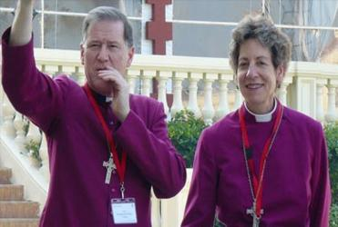 Archbishop Fred Hintz (Canada) and Presiding Bishop Katharine Jefferts Schori (Episcopal Church)