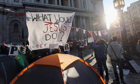 The Occupy London Stock Exchange encampment outside St Paul's Cathedral. Photo: Oli Scarff/Getty Images