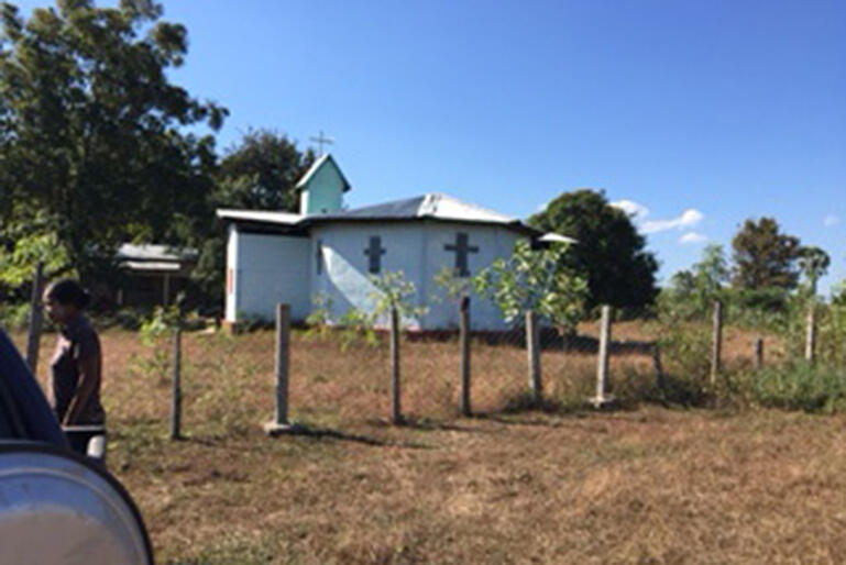 Beacon of hope. The new church built by the Karen community.
