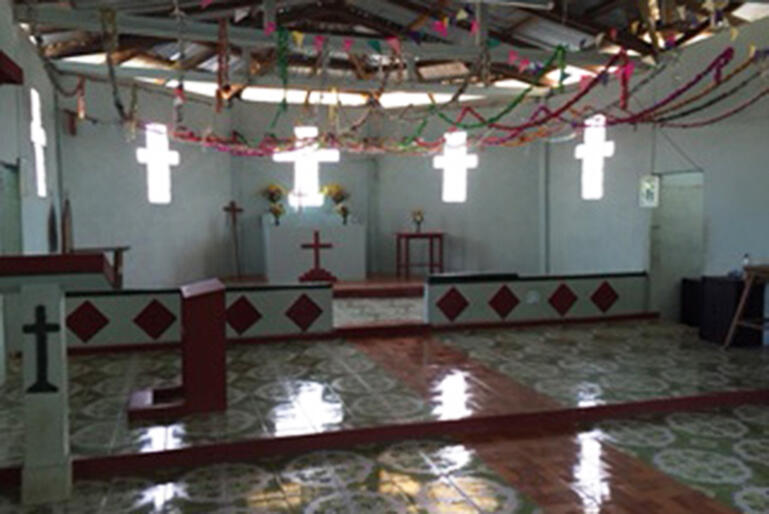 The interior of the new Karen church.