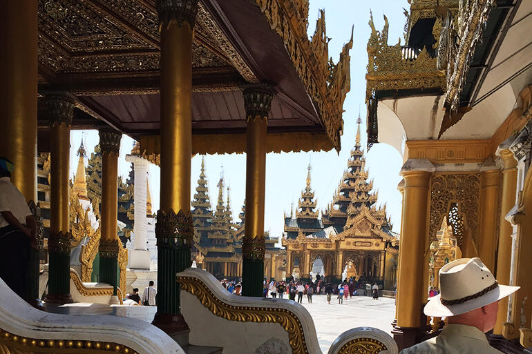 The Shwedagon Pagoda in Yangon, where the Family Gathering of the Church of the Province of Myanmar was held.