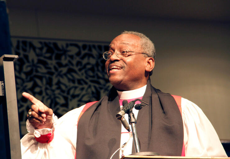 Bishop Michael Curry: won by a landslide among the bishops.