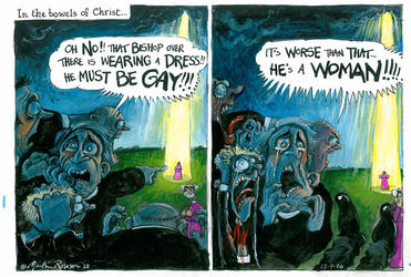 How the London Guardian's cartoonist saw the vote on women bishops in the Church of England.