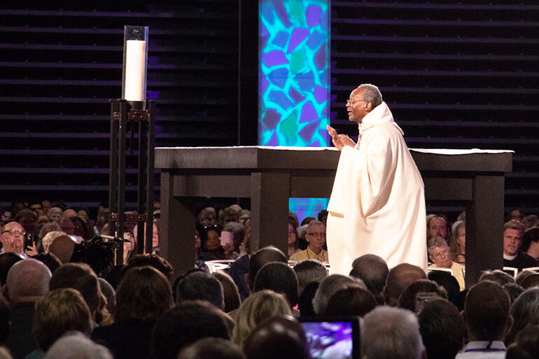 Presiding Bishop Michael Curry during the convention's opening eucharist.