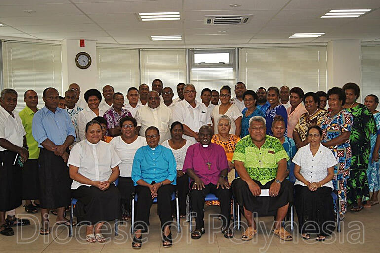 Archbishop John and Reverend Margaret Sentamu meet to 'talanoa' with clergy and clergy spouses from Suva and Ovalau Archdeaconry