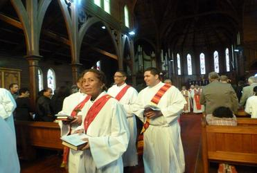 Te Tokerau's four new deacons leave Holy Sepulchre for ministry in the world.