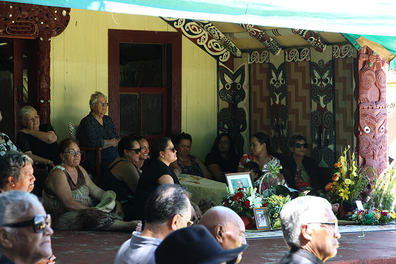 Archbishop's family in the porch of Waho Te Rangi.