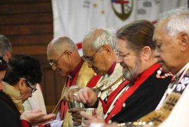 From left: Bishops Muru Walters; Brown Turei; Mark MacDonald and Ben Te Haara.