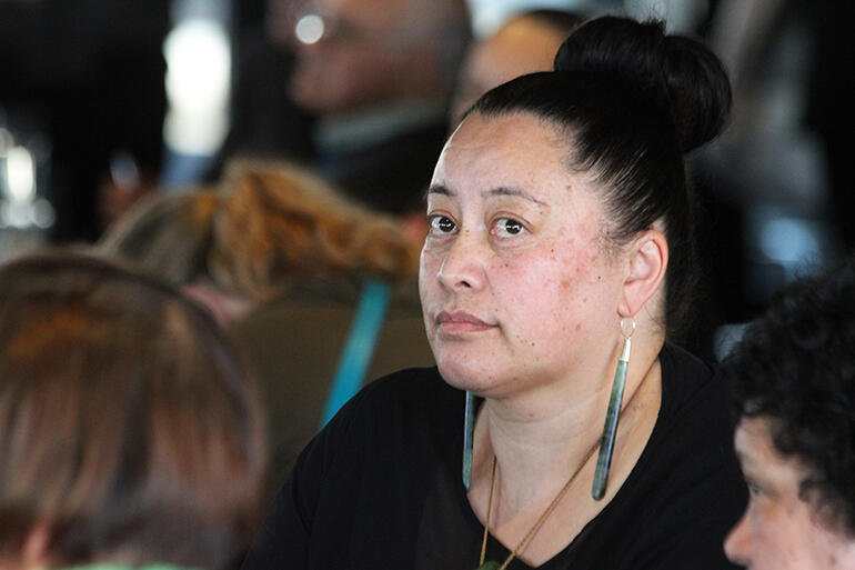 Susan Wallace listens to the debate about her request for an apology over the way Te Wai Pounamu College was closed in 1990.