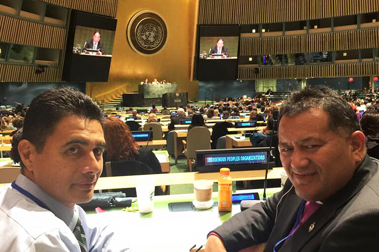 Former diplomat Kerry Davis and Bishop Kito remained in New York as AIN observers at the 14th Session of the UN Permanent Forum on Indigenous Issues.