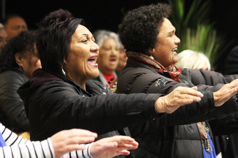Tairawhiti's turn to perform on Saturday evening. That's the Rev Canon Pane Kawhia, and Jacqui Chesley-Ingle.