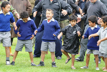 Hone Kaa was a kaitiaki of Ngati Poroutanga - and here, these boys from Rangitukia school show their respect.