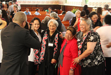 From left: Barby Waititi; Aunty Hine Hiku; Tahi Gage and Charlene Roberts. Greg Makutu is behind the camera.