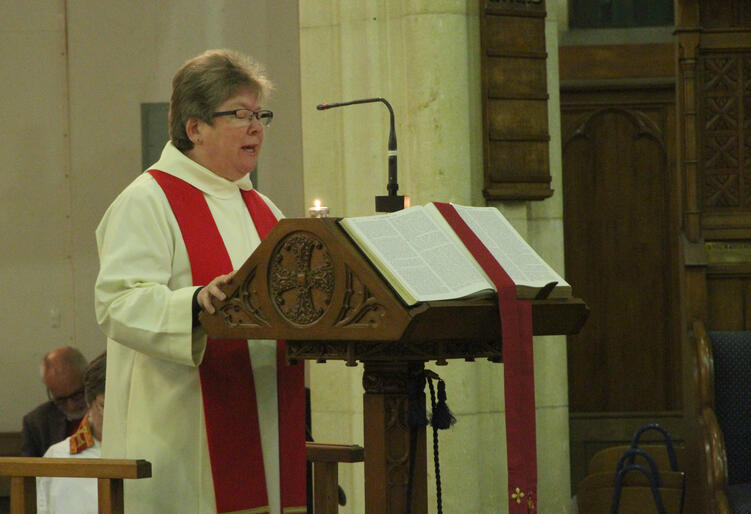 Rev Fran Grant of Derbyshire reads from Isaiah 61