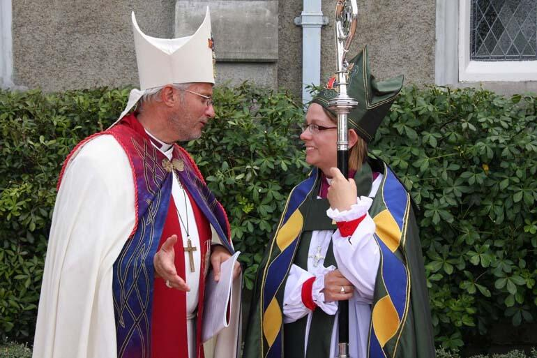 Bishop Stephen Pickard, who preached the sermon, and is seen here, is Bishop Helen-Ann's colleague in theological education.