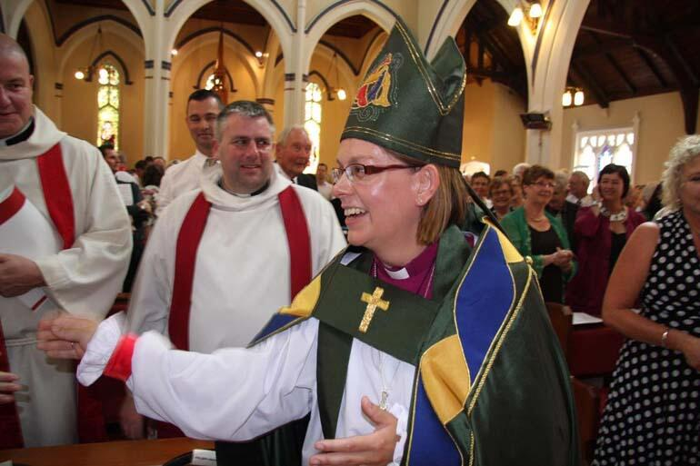 The newly ordained Bishop of Waikato, the Rt Rev Dr Helen-Ann Hartley.