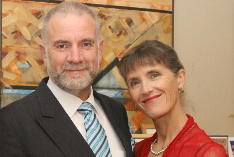 Kelvin and Clemency Wright: a recent photo, taken at the time of their daughter Bridget's wedding.