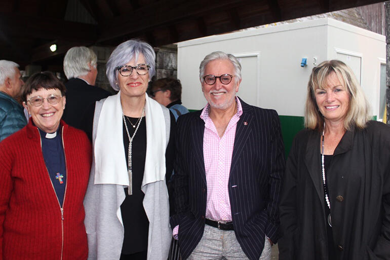 Taranaki's cathedral team L-R: Sue Pickering, Campaign Manager Jan Mason, Terry Parkes and Cathy Thurston.