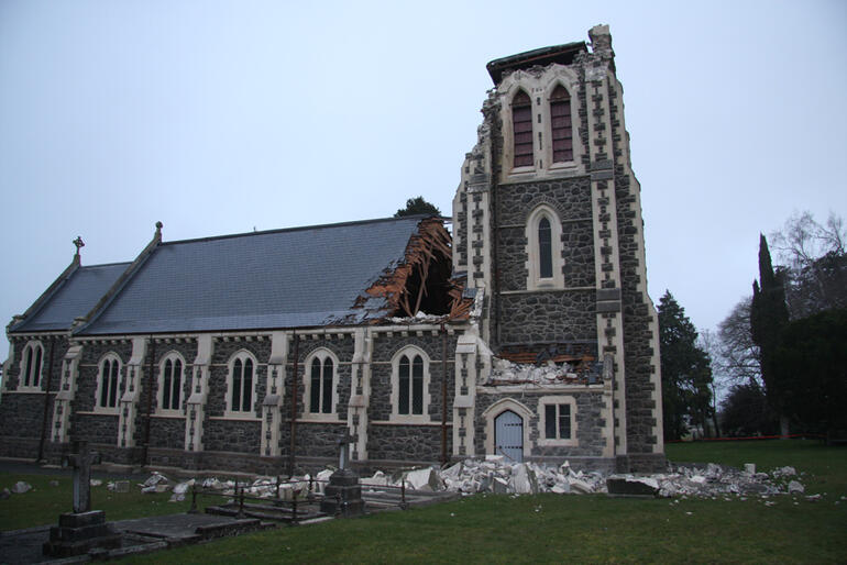 St John's Hororata, a landmark church about 45 minutes west of Christchurch, is one of the worst affected churches.