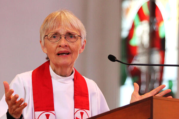 The Rev Dr Marilyn McCord Adams preached the ordination sermon. She'd been Jim's academic supervisor at Yale University.