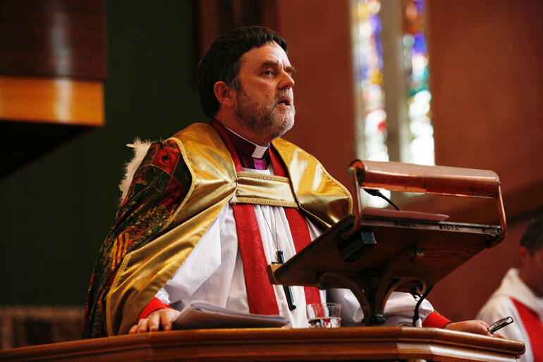 Archbishop Philip Richardson preaches the ordination sermon.