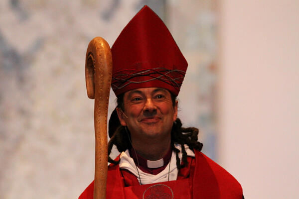 Justin Duckworth's presentation as the new Bishop of Wellington was greeted with thunderous acclamation.