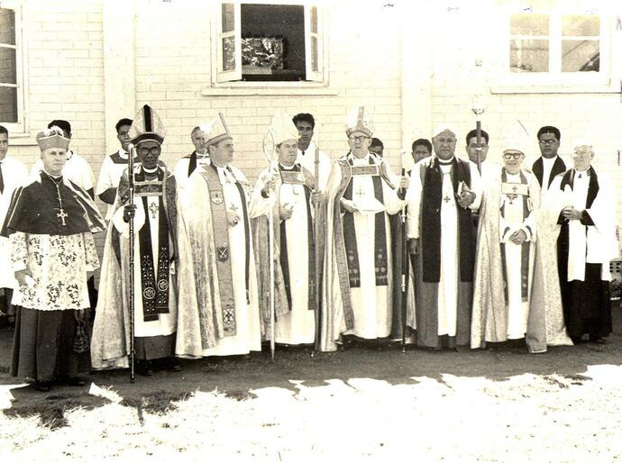 Bishop Winston's father, Fine Halapua, was also a bishop. This shot is from his episcopal ordination in Tonga, in 1967.