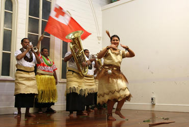 Louna Vaka (Tongan Church, Otahuhu) with the Band Boys from St Paul's Church, Nuku'alofa, Tonga.