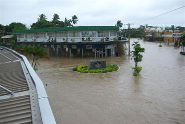 A traffic 'island' in Nadi