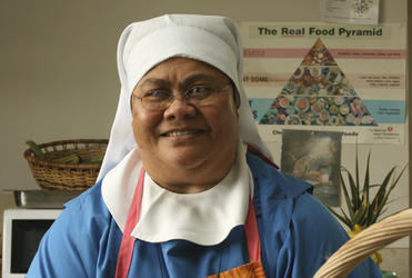 Sister Fehoko from the Community of the Sacred Name in Tonga.