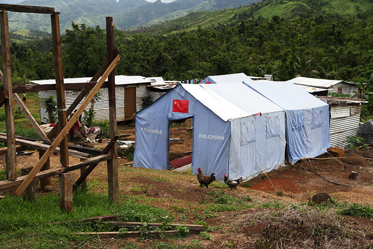 Most of Maniava lives in tents provided by the Peoples' Republic of China.