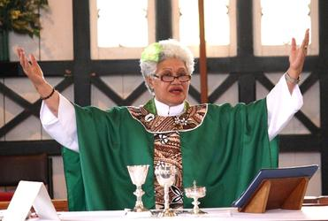 Archdeacon Taimalelagi Fagamalama Tuatagaloa-Leota celebrated the Eucharist at the memorial service.