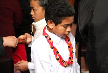 Auckland's Samoan Anglicans open their hearts and pockets during the memorial service at Ekalesia Agelekana on Sunday.