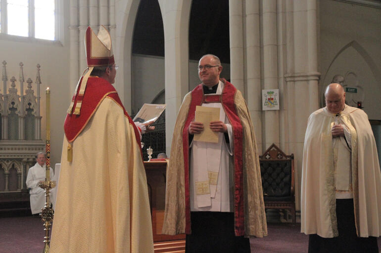 + Steven Dunedin licenses Rev Dr James Harding as a clerical canon and Rev Brian Kilkelly as a Priest Assistant for St Paul's.