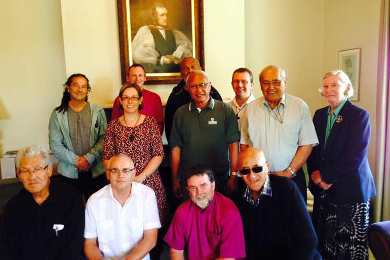 Bishop Jim meets with Bishops across the three Tikanga in March 2015.